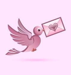 Homing postal pigeon vector image