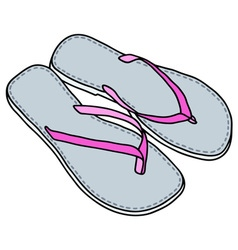 Low sandals vector image vector image
