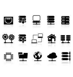 Server and database icon vector image