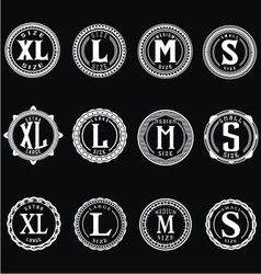 Vintage Size Label vector image
