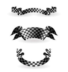 Checkered ribbons set vector image vector image