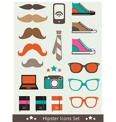 HipsterIcons vector image vector image