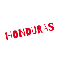 honduras rubber stamp vector image