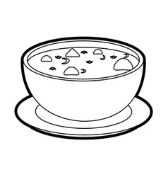 hot soup bowl icon vector image