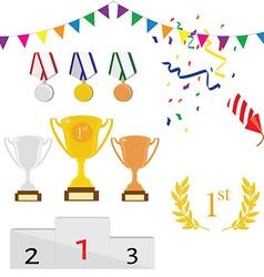 Sport award icon set vector image vector image