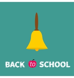 Yellow bell with handle back to school chalk text vector