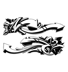Black and white graffiti backgrounds vector image vector image