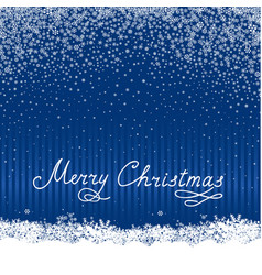christmas snow background holiday greeting card vector image