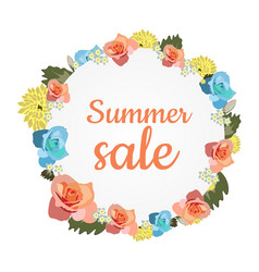 design banner with summer sale vector image vector image