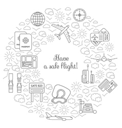 Have a safe flight card for airplane travel vector image vector image