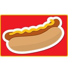 Hot Dog vector image vector image
