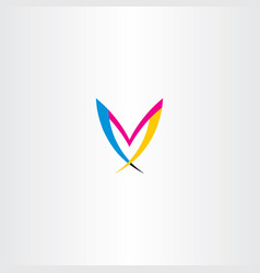 m colorful letter logo symbol icon vector image vector image