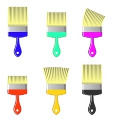 Set of Colorful Paintbrushes vector image vector image