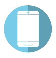 smartphone technology trendy shadow vector image