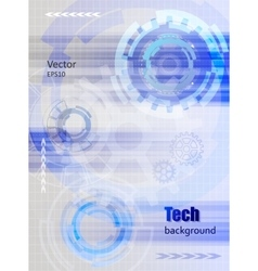 Technology background with gear wheel and rays vector image vector image