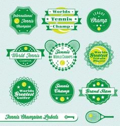 Tennis Labels vector image vector image