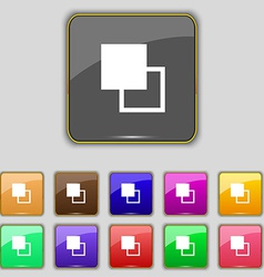 Active color toolbar icon sign Set with eleven vector