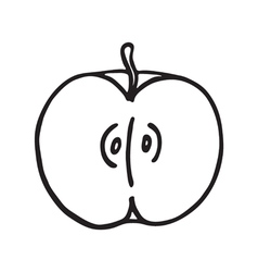 Apple icon Outlined vector