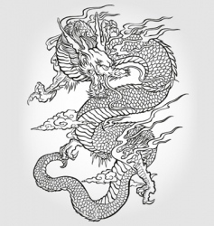 Asian dragon illustration vector