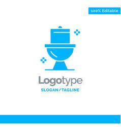 Bathroom cleaning toilet washroom blue solid logo vector