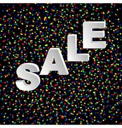 black confetti and sale vector image