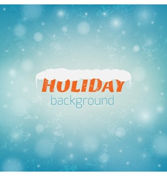 blurred christmas background with bokeh vector image
