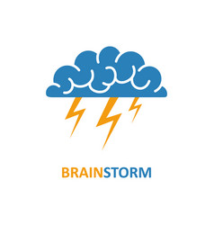 brain brainstorming idea icon vector image