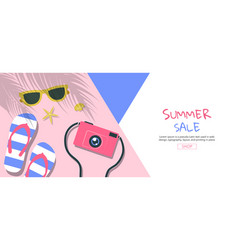 Bright sweet fashion style hot summer vibes pop vector