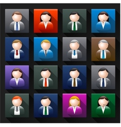 Business avatar vector