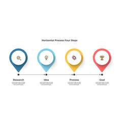 business process timeline infographics with 4 vector image