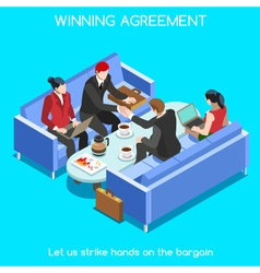 Business Room 02 People Isometric vector