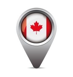 Canada pointer flag vector image