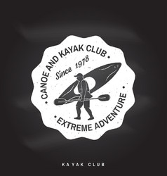 Canoe and kayak club badge vector