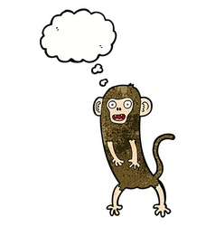 Cartoon crazy monkey with thought bubble vector