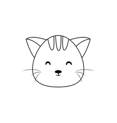 Cat drawing face vector