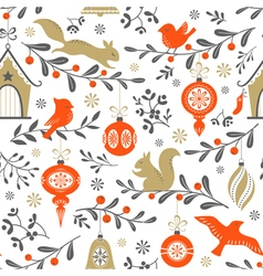 Christmas retro pattern vector