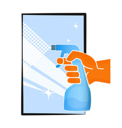 cleaning the window symbol vector image
