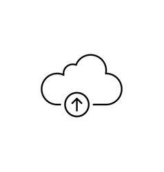 cloud storage upload outline icon signs and vector image