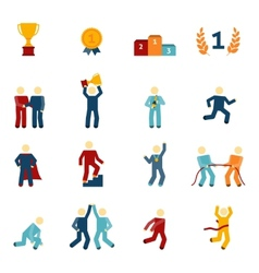 Competition Icons Flat Set vector