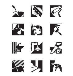 Construction tools and materials vector