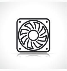 Cpu fan line icon vector