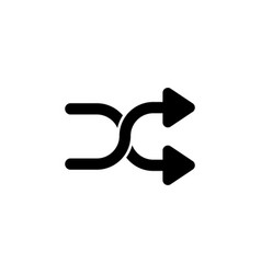 cross shuffle arrows icon signs and symbols can vector image