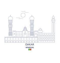 Dakar city skyline vector