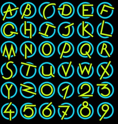 Decorative alphabet set vector image