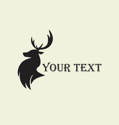 deer hunting silhouette template logo vector image
