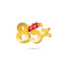 Discount up to 85 template design vector
