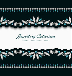 Elegant frame with jewellery border ornaments vector