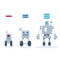 Evolution of robots vector