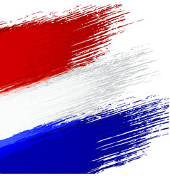 grunge background in colors of dutch flag vector image