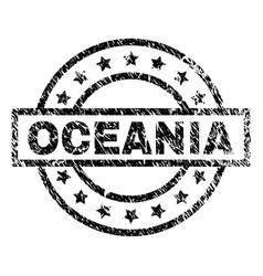 Grunge textured oceania stamp seal vector